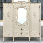 Vintage Kleiderschrank mit Spiegel großer