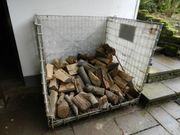 6-8 Stück Brennholzboxen aus Edelstahl