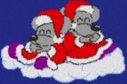 Vorlage für Ministeck Weihnachtsmäuse auf