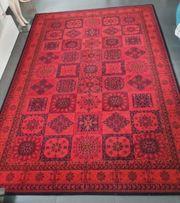 Besmer Teppich rot schwarz