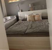 Ikea BRIMNES Bett 180x200cm zu