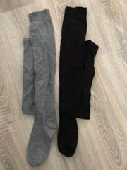 Kniehohe getragene Socken oder getragene
