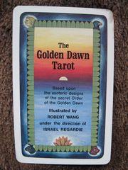 TAROT-Kartendeck - Golden Dawn Tarot - englische
