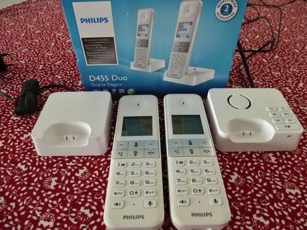 DECT Basisstation Duo Mobilteile Anrufbeantworter