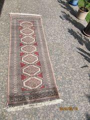 Handgeknüpfter Teppich zartrosa rot aus
