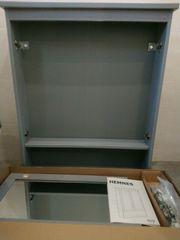Spiegelschrank Hemnes Ikea grau 2-türig