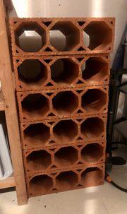 Weinregal aus Ton Ziegel für