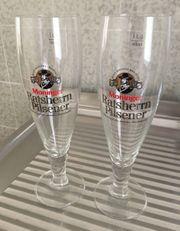 12 Biergläser Moninger Ratsherrn Pilsener