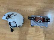 Skihelm 55-56 cm und Skibrille -