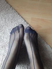 damenstrümpfe blauton