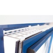 Ausziehbare Schutzgitter für Fenster oben