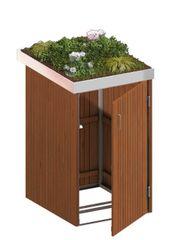 Binto Mülltonnenbox Hartholz mit Pflanzschale