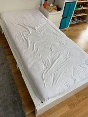 Malm Bett Ikea weiß 90