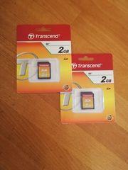 2 x Transcend SD 2GB