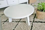 Holz-Tisch 60 cm weiß rund