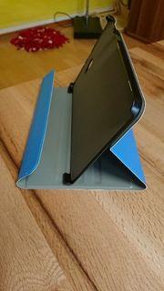 Tablet-Hülle Kunstleder blau neu