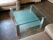 Hochwertiger Glas-Couchtisch Tisch 90x90 mit