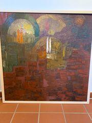 Ölbild aus 1969 Künstler Feser