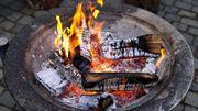 Brennholz Feuerschale