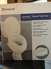 Toilettensitzerhöhung Savanah mit Deckel 57