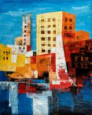 Großes neues BALI-Gemälde Komposition mit