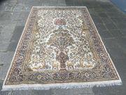 Seidenteppich handgeknüpft Teppich Seide Perser