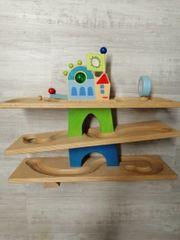 KinderMurmelbahn Haba aus Holz