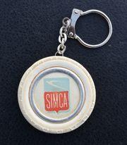 Alter SIMCA Schlüsselanhänger Weißwandreifen Garage