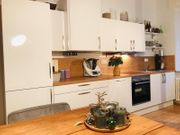 Neuwertige Küche weiß Hochglanz 2
