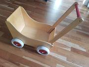 Holzpuppenwagen Lauflernwagen