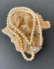 Traumhafte echte Hochzeit - Perlenkette mit