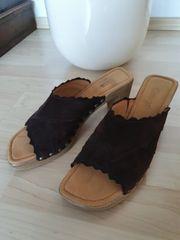 Retro Clogs Sandalen braun von