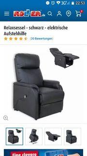 Relaxsessel - schwarz - elektrische Aufstehhilfe