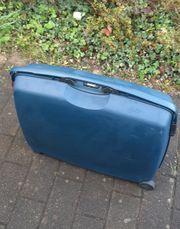 blauer Reise Koffer