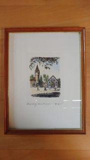 2x Gemälde Ravensburg mit Signatur