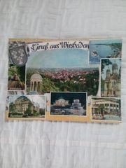 2 x Wiesbaden Postkarte Schallplatte
