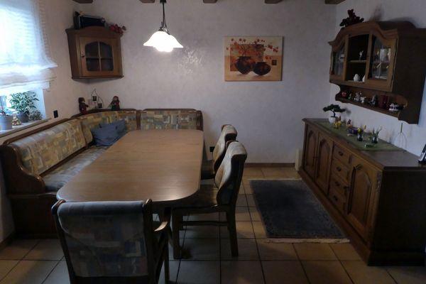 Hochwertiges Esszimmer komplett Eckbankgruppe Tisch