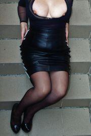 Nylons Slips High Heels getragene