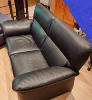 Sofa bzw Couch blau Kunstleder