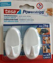 2 Powerstrips Kunststoffhaken Haken Oval