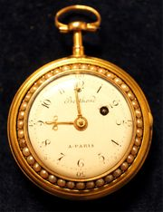 Antike Spindel-Uhr mit Viertel-Repetition