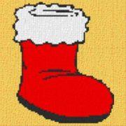 Vorlage für Ministeck Weihnachtsstiefel 40x40cm
