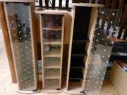 CD Regale mit gemusterten Glastüren