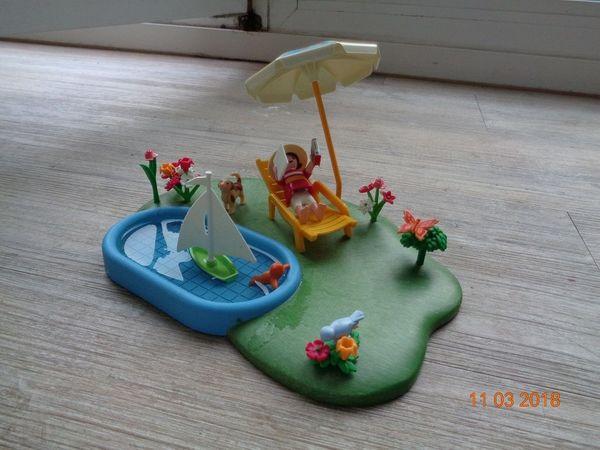 Playmobil Planschbecken mit Sonnenliege