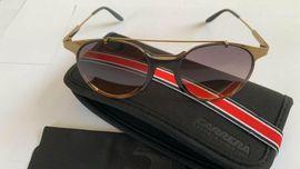 CARRERA 128-S Sonnenbrille Unisex Gold NEU mit Original - Box OVP