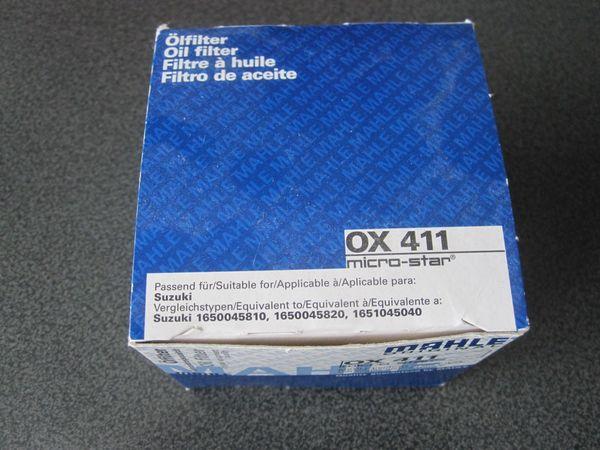 Ölfilter SUZUKI Motorrad Mahle OX411