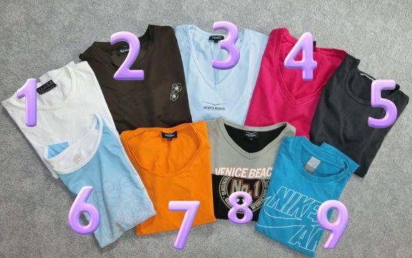 9x Damen Nike Venice Sport Fitness Shirts Marken 36 S türkis orange rot Trekking Shirt Einzelkauf