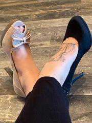 Getragene Schuhe Pumps