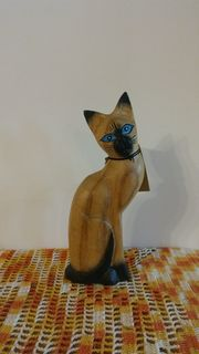 Deco Holz-Katze Alice