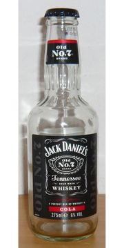 Jack Daniels Cola Whiskey Flasche